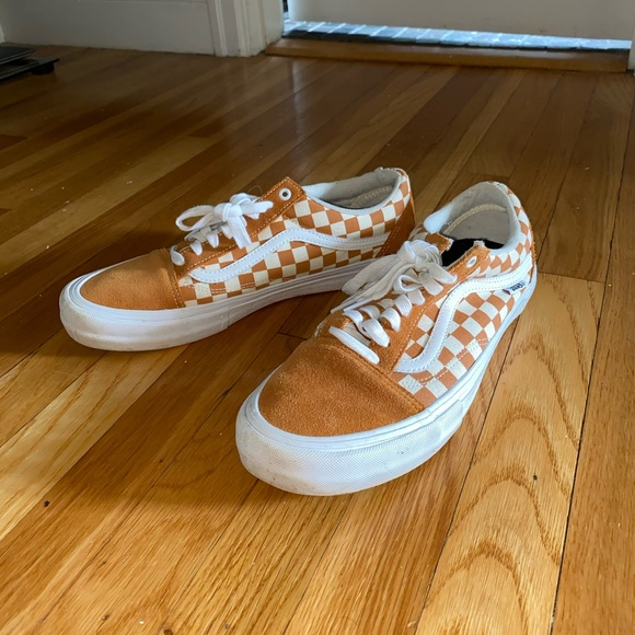 Size 15 Burnt Orange Checkered Vans